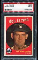 1959 Topps Baseball #205 DON LARSEN New York Yankees PSA 7 NM