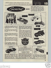 1957 PAPER AD Andy Gard Toy Remoe Control Gee I Jeep Schuco Motorcycle Combinato