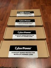 (4) CyberPower Cyber Power CSB604 6-Outlets Surge Protector with 4ft Cord 900J