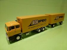 LION CAR 65/73 74 DAF 2800 TNT IPEC POST TRUCK TRAILER - 1:50 - GOOD CONDITION