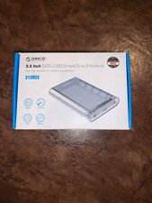 UASP 8TB 3.5 Inch Hard Drive Enclosure HDD/SSD Type-C to SATA Transparent Case