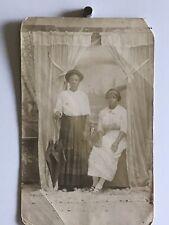 Americana African American Women Ladies Umbrella Photo Black White 1916 Ww1 W12