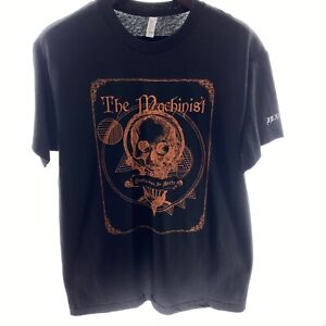 THE MACHINIST L Large In Morte Tour Black T-shirt Cotton Double Sided