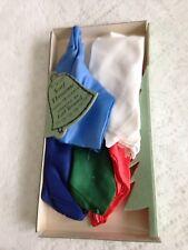 Lot of 5 Vintage  EARL BERNARD Silk/Rayon 16' Scarfs - New in Box.