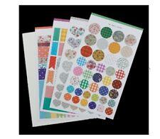 3al Fabric Pattern Sticker 4 sheets ST089