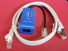 ISDN LEITUNGSTESTER mit LED KONTROLLANZEIGE + NW WESTERNKABEL ca. 1m  26037