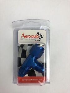 Aeroquip FCM2255 Aluminum Female Run Tee in Blue Anodized -06AN