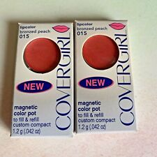 2 COVERGIRL LipColor Magnetic Color Pot BRONZED PEACH 015