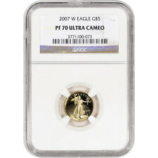 2007-W American Gold Eagle Proof (1/10 oz) $5 - NGC PF70 UCAM