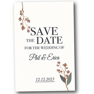 50 Winter Floral Magnetic Save The Date Cards Inc Envelopes FREE P+P