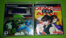 Empty Replacement Cases! Dead or Alive Zero Divide Sony Playstation PS1 PS2 PS3