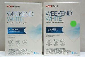 LOT OF 2 CVS Weekend White Enamel Safe Whitening Kit - EXP 05/2021 - SEALED