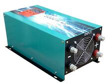 5000w LF pure sine wave power inverter dc 24v to ac 110v,80A battery charge,LCD