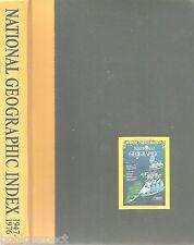 NATIONAL GEOGRAPHIC MAGAZINE INDEX 1947-1976 pub 1977 Hardcover SBN 870440934 VG