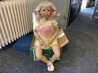 Diane Bucki Porzellan Puppe 84 cm. Top Zustand
