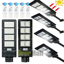 Commercial 990000Lm Solar Street Light Led Ip67 Dusk Dawn Pir Sensor+Pole+Remote