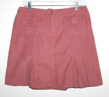 Ann Taylor LOFT - 0 (XS) - Rose Pink Light-Weight Micro-Corduroy Mini Skirt