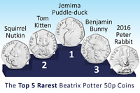 Beatrix Potter 50p & Album - Cheap and Fast - Free Postage