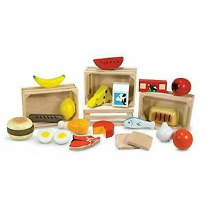 Melissa & Doug Food Groups - Pretend Play, 21 Hand-Painted Wooden Assorted