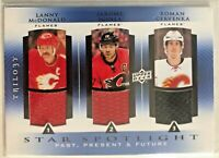 2013-14 Upper Deck Trilogy Three Star Spotlight Jerseys Iginla, Lanny McDonald