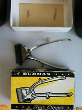 Vintage Burman barbers hair clippers with original box