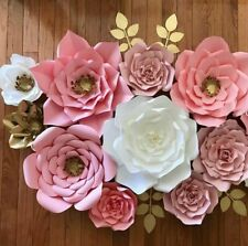 30cm Paper Flowers Backdrop Large Rose DIY Handmade Wedding Party Venue Decor