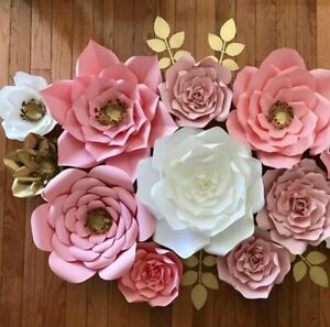 30cm Paper Flowers Backdrop Large Rose DIY Handmade Wedding Party Venue Decor