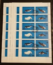 BATUM DOLPHINS LOT 5 SHEETS PERFORED USED.