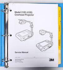 3M Overhead Projector Service Manuals 2100/213 in Binder
