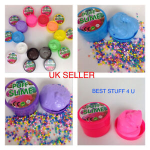 Fluffy Puff Slime Funtok Foam 100g Can Toy For Kids Stress Relief UK Seller d5