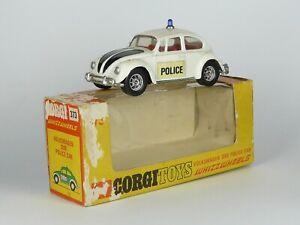 Corgi Toys 373 Whizzwheels Volkswagen 1200 Police Car 1/43 Very Rare