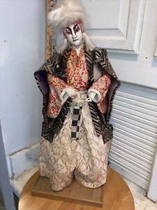 "VINTAGE 24"" Nishi & Co. LTD. Japanese Samurai Master Doll Handmade in Japan 🇯🇵"