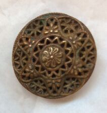Antique Metal Self Shanked Collectable  Button- Stamped Czchechoslavakia