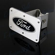 """Chrome Stainless Steel Hitch Cover For Ford Logo 2"""" Trailer Tow Towing Receiver"""
