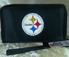 Pittsburgh Steelers NFL Cell Phone Wallet Rhinestone Bling NFL Licensed!
