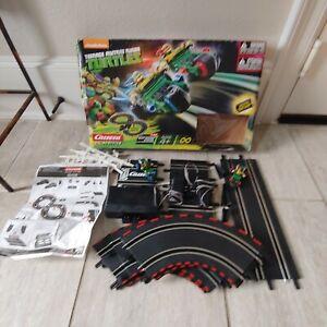 Carrera Teenage mutant ninja turtles slot race track figure 8 1:43 scale