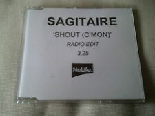 SAGITAIRE - SHOUT (C'MON) - HOUSE PROMO CD SINGLE