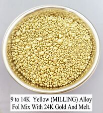 Yellow Gold Alloy 9-14K Gold.ROLLING NOT CASTING,50 Gram,100% Quality and Color