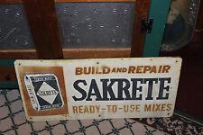 Vintage Sakrete Cement Mixes Metal Advertisement Sign-Country Store Decor