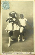 Black Children Dancing Cake Walk 1904 Realphoto Postcard