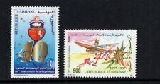 Tunisia 1997 Republic 40th Anniversary Airplane  MNH Sc 1128-1129