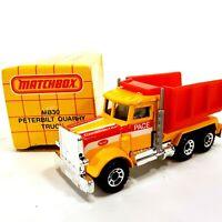 Vintage 1990 Matchbox Original Collectibles MB30 Peterbilt Quarry Truck New