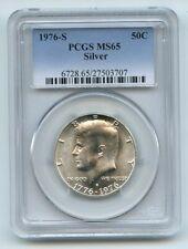 1976 S 50C Silver Kennedy Half Dollar PCGS MS65