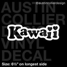 "6.5"" KAWAII vinyl decal car window laptop sticker - anime manga heart"