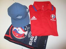 Lot Polo ADIDAS casquette écharpe EURO FRANCE 2016 football collection shirt M