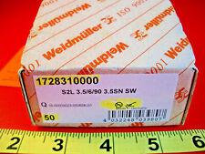 Weidmuller 1728310000 Lot of (50) Terminal Blocks S2L 3.5/6/90 3.5SN SW 6P 3.5mm