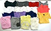 Lot of 16 Assorted Brands Women's Large Summer Short Sleeve T-Shirts Tees Tops