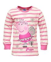 Girls Long Sleeved Tops Official Peppa Pig