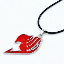 Hot Anime FAIRY TAIL Natsu Dragneel Guild Red Pendant Necklace Cosplay Costume
