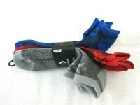 Converse Mens Half Cushion No Show Socks Pack of 3 Size 6-12 Grey Red Blue NWT